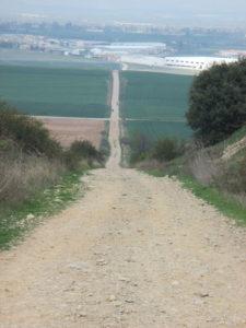 Ein steiler Abstieg